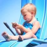 On blue beach — Stock Photo #5881099