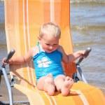 On blue beach — Stock Photo #5881142