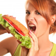 Unhealthy food — Stock Photo