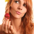 With strawberry — Stock Photo #6000799