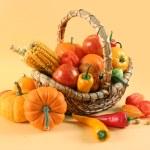 Vegetables on yellow — Stock Photo #6473120