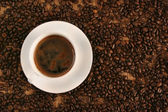 Offee on coffee — Stock Photo