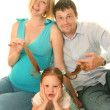 Cute family — Stock Photo