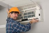 система кондиционирования воздуха регулятор — Стоковое фото