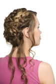 Girl with beautiful hair styling — Stock Photo