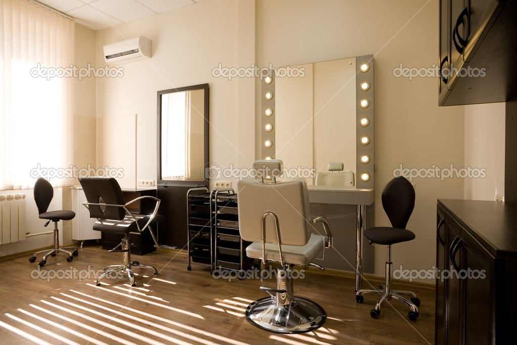 Modern salon make up artist and hairdresser stock photo for Photo salon moderne