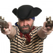 Pirate with a muskets — Stock Photo #5754318