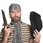 Bearded pirate — Stock Photo #5754350
