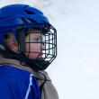pojke spelar hockey — Stockfoto