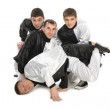 Portrait of a team of young break dancers — Stock Photo #5776474