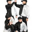 Royalty-Free Stock Photo: Portrait team of young break dancers