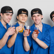 Friends drinking juice — Stock Photo #5776559