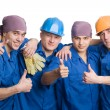 Stock Photo: Friendly young team of construction workers