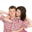 Royalty-Free Stock Photo: Happy young couple in love embrace.