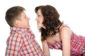 Portrait of a young couple in love. — Stock Photo