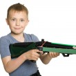Boy with the crossbow — Stock Photo