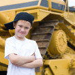 Smiling boy in a cap — Stock Photo #5878447