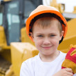 Boy in a helmet — Stock Photo