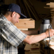 Stock Photo: Carpenter works
