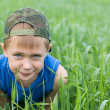 Little boy in the grass — Stock Photo #5970462