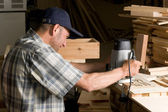 Carpenter works — Stock Photo