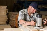 Working carpenter — Stock Photo