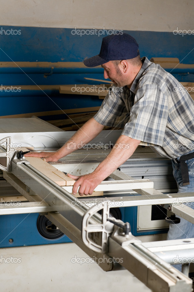 Carpentry Carpenter Woodworker Woodworking Wooden: Carpenter Working On Woodworking Machines
