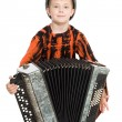 Boy playing the accordion. — Stock Photo