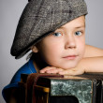 Smiling boy wearing a cap — Stock Photo #6395321