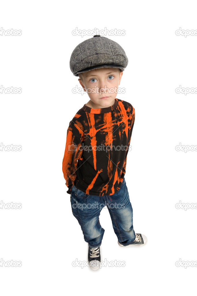 Cute boy with a kind look.  Stock Photo #6395367
