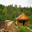 Stock Photo: Wood house for leisure travelers