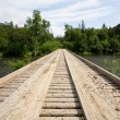 Wooden bridge - Stockfoto