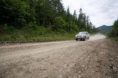 Rally en un camino de tierra. — Foto de Stock