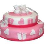 Pink baby cake — Stock Photo