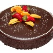 Stock Photo: Chocolate cake decorated with fruit