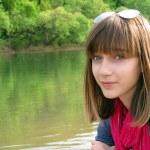 10 代の少女の肖像画 — ストック写真