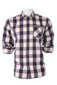 Male checkered shirt on a mannequin — Stock Photo