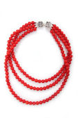 Elegant coral necklace — Stock Photo