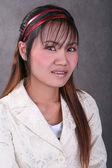 Thai mädchen mit zahnspange — Stockfoto