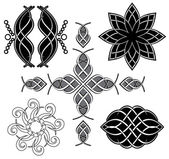 Set of vector black tracery for design — Stock Vector