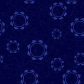 Vector dark blue seamless pattern with figures — Stock Vector