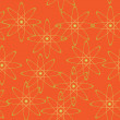 Vector orange geometric seamless texture — Stock Vector