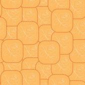 バラと正方形でシームレスなパターンをベクトル オレンジ — ストックベクタ
