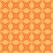 Vector orange seamless pattern with crossed elements — Stock Vector