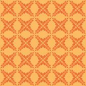 Vektor orange seamless mönster med korsade element — Stockvektor