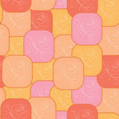 Vector geometric red and orange pattern — ストックベクタ