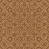Brown vector geometric seamless pattern — Stock Vector