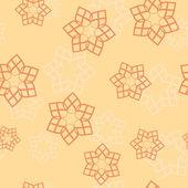 Orange seamless pattern with geometric elements — Cтоковый вектор