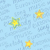 Vector geometric seamless texture with words of eurovision — Vector de stock