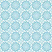 Texture senza soluzione di continuità geometrica del vettore blu su sfondo bianco — Vettoriale Stock